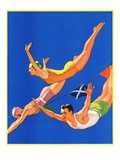 """""Diving Women and Man,""""August 1, 1932"