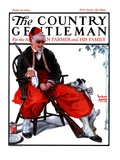 """""""""""Cleaning His Gun,"""""""" Country Gentleman Cover, June 30, 1923"""
