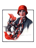 """""""""""Woman in Red Cloche and Scarf,""""""""November 8, 1924"""
