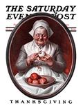 """""Peeling Apples,"""" Saturday Evening Post Cover, November 28, 1925"