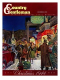 """""Main Street at Christmas,"""" Country Gentleman Cover, December 1, 1944"