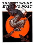 """""Witches Night Out,"""" Saturday Evening Post Cover, October 27, 1923"