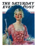 """""""""""Costumed Woman,"""""""" Saturday Evening Post Cover, December 10, 1927"""