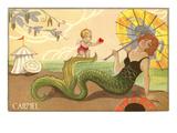 Art Deco Mermaid, Carmel, California