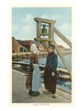 Typical Dutch Costumes, Volendam, Holland