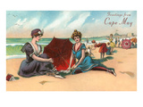 Greetings from Cape May, New Jersey, Vintage Bathers