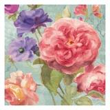 Watercolor Floral II on Grey