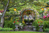 Rose Garden at Butchard Gardens in Full Bloom, Victoria, British Columbia, Canada