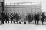Italian Men Await Admission Processing at Ellis Island, Ca. 1910