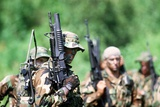 US Navy SEALs in Warfare Training, Aug. 1, 1987