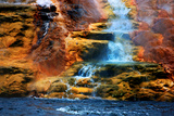 Mammoth Hot Springs Waterfall
