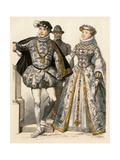 King of France Charles IX and His Wife, Elizabeth of Austria, 1500s