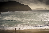 Girls Playing by the Sea at Clougher Bay, Kerry