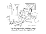 """""""""""I can forgive any athlete who's had to endure thousands of hours in those?"""""""" - Cartoon"""
