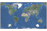 Michelin Official World Satellite Map Poster