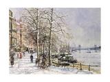 Chelsea: Cheyne Walk under Snow