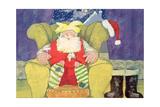 Santa Warming His Toes