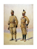 Soldiers of the Frontier Force, Illustration from 'Armies of India' by Major G.F. MacMunn,?