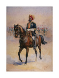 Soldier of the 14th Murray's Jat Lancers, Risaldar-Major, Illustration for 'Armies of India' by?