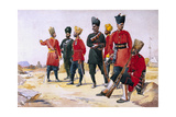 Soldier of the Rajputana Infantry, Illustration from 'Armies of India' by Major G.F. MacMunn,?
