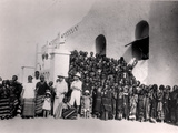 Group of Young Girls in Front of the Residency at Filinge Near Nyamey, Niger, 1929