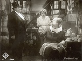 "Still from the Film """"The Blue Angel"""" with Marlene Dietrich, Kurt Gerron and Emil Jannings, 1930"