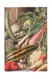Garden Vegetables, Illustration from 'Garden Ways and Garden Days'