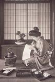 Japanese Woman Writing, 1933