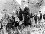 Children in Berlin Watch the British Seventh Armoured Division Entering the City, 4th July 1945