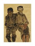 Two Seated Boys; Zwei Sitzende Knaben, 1910