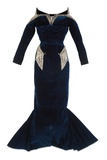 Midnight Blue Dinner Dress, Christian Dior, Lahore, 1948