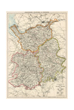 Map of Shropshire, Staffordshire, and Cheshire, England, 1870s