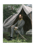 Confederate General Thomas J. (Stonewall) Jackson at His Field Headquarters, Civil War