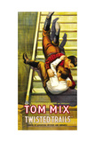 TWISTED TRAILS, Tom Mix on poster art, 1916