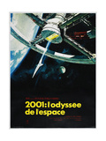 2001: A SPACE ODYSSEY (aka 2001: ODYSSEE DE LESPACE), French poster, 1968