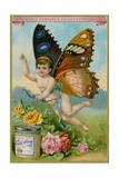 Butterfly Cherub with Roses