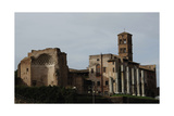 Italy. Rome. Church of St Frances of Rome (Santa Francesca Romana) and the Temple of Venus and?
