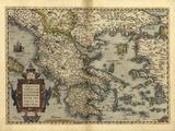 Ortelius's Map of Greece, 1570