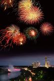 Fireworks Display Over Niagara Falls