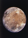 Voyager I Photo of Ganymede, Jupiter's Third Moon