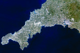 True-colour Satellite Image of Cornwall, UK