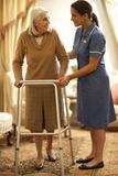 Senior Woman with Walking Frame