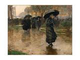 Rain Storm, Union Square, 1890