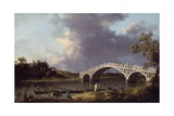 Old Walton Bridge over the Thames, 1754