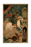 St. George and the Dragon, Russian Icon from Vologda, 15th Century