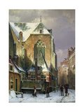Winter Scene in Amsterdam