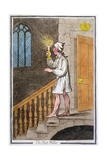 The Sleep-Walker, Published by Hannah Humphrey in 1795 (Hand-Coloured Etching0