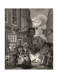 Times of the Day: Night, from 'The Works of William Hogarth', Published 1833