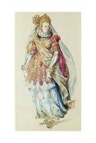 Costume Design for a Lady Masquer, 1610