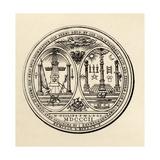 Masonic Seal, 1802, from 'The History of Freemasonry, Volume III', Published by Thomas C. Jack,?